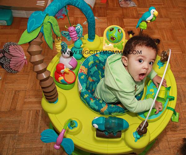 b81a1a860 EvenFlo ExerSaucer® Triple Fun™ Life in the Amazon  review – Big ...